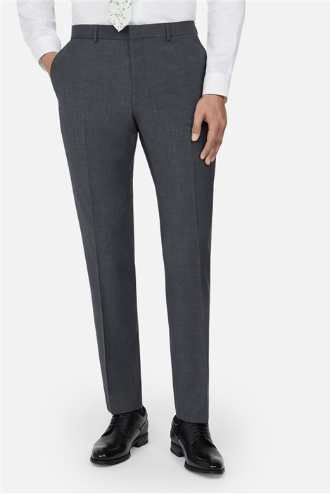 Ted Baker Charcoal Panama Slim Suit Trousers