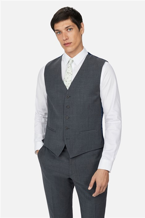 Ted Baker Charcoal Panama Slim Waistcoat