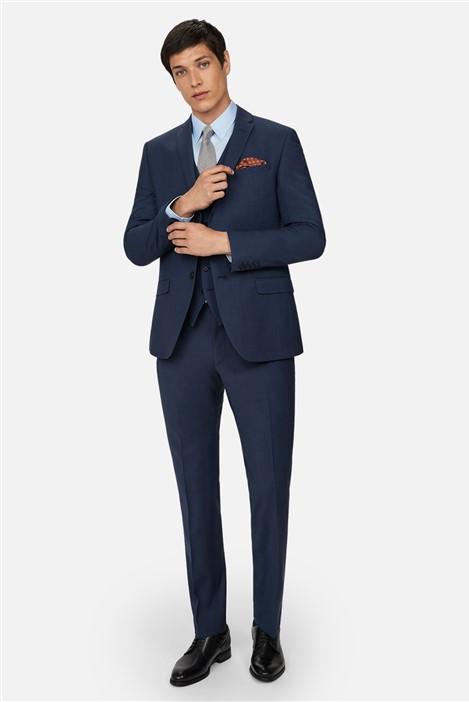 Ted Baker Blue Panama Skinny Suit