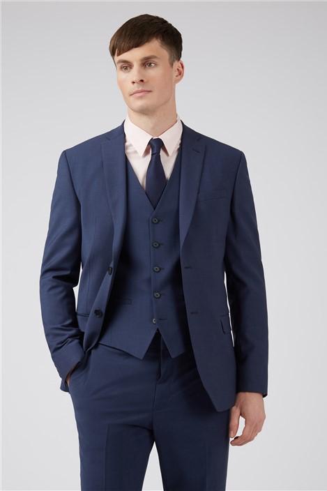 Ted Baker Blue Panama Regular Suit