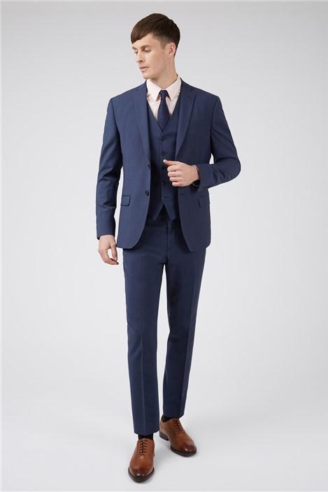 Ted Baker Blue Panama Slim Suit