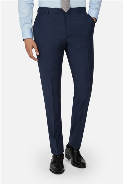 Ted Baker Blue Panama Slim Suit Trousers