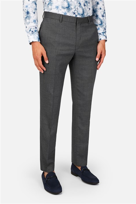 Ted Baker Grey Texture Slim Fit Suit Trousers