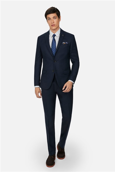 Ted Baker Navy Texture Slim Fit Suit
