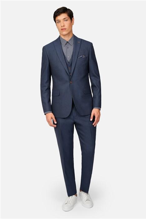 Ted Baker Airforce Blue Flannel Regular Fit Suit Jacket