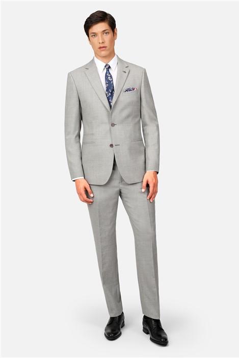 Ted Baker Light Grey Flannel Regular Fit Suit