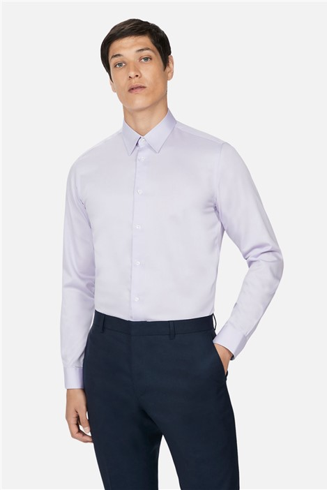 Ted Baker Lilac Sateen Slim Fit Shirt