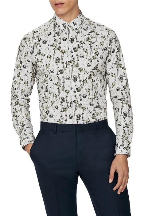 Ted Baker Forest Print Slim Fit Shirt