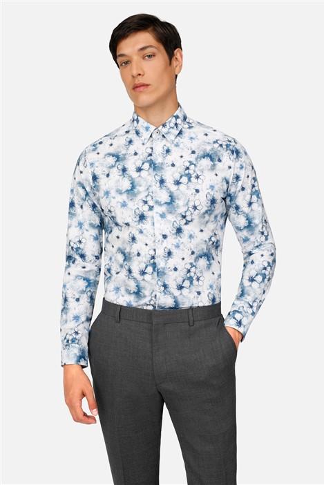 Ted Baker Watercolour Print Slim Fit Shirt