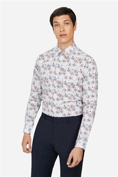Ted Baker Dandelion Print Regular Fit Shirt