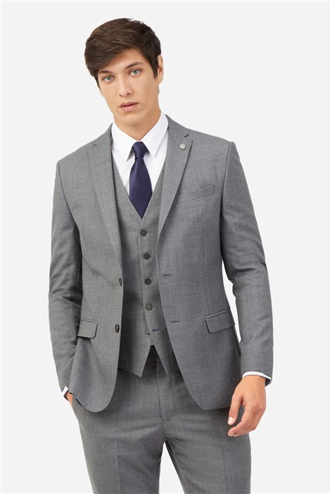Ted Baker Grey Blue Textured Suit