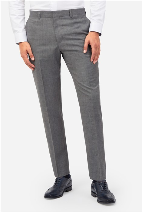 Ted Baker Grey Blue Textured Suit Trousers