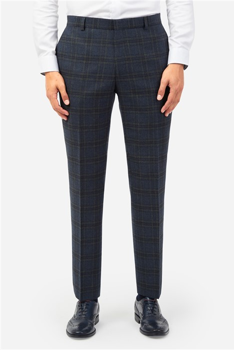 Ted Baker Teal Check Suit Trousers