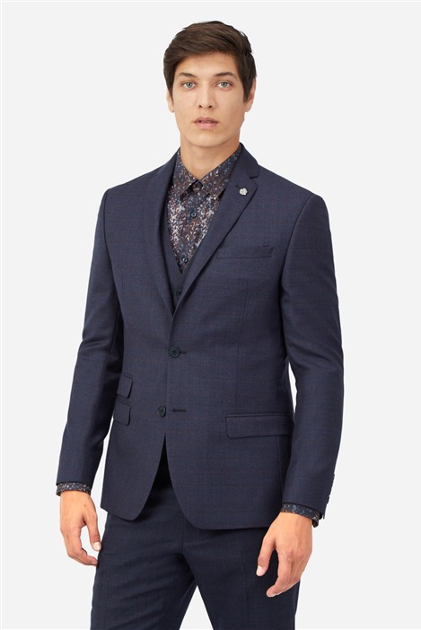 Ted Baker Navy Berry Checked Suit