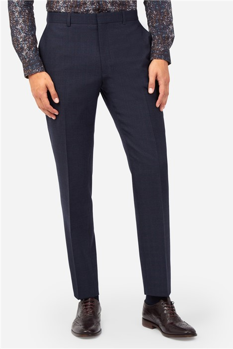 Ted Baker Navy Berry Checked Suit Trousers