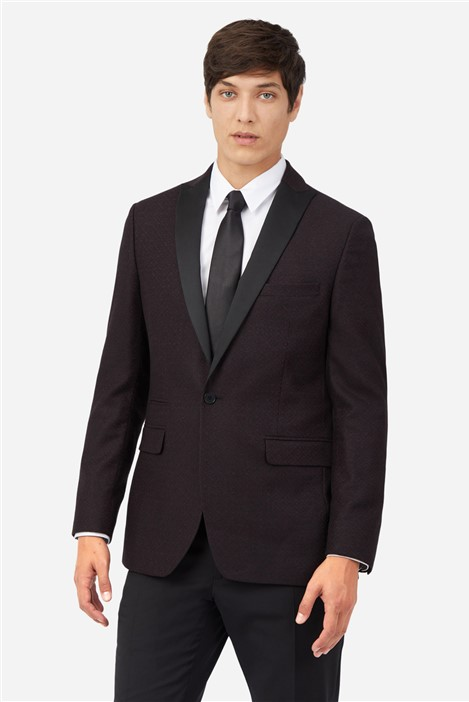 Ted Baker Mulberry Diamond Suit Jacket