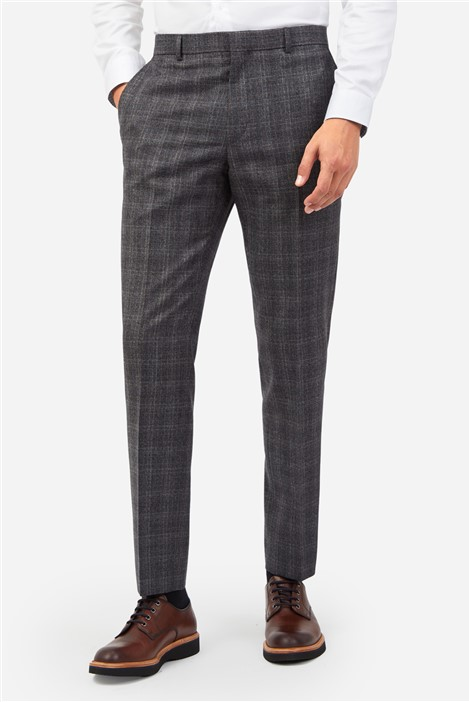 Ted Baker Grey Heritage Check Suit Trousers