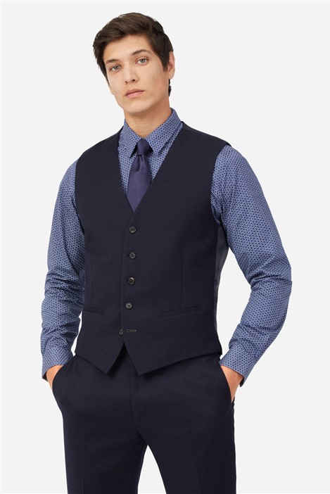 Ted Baker Navy Structure Waistcoat