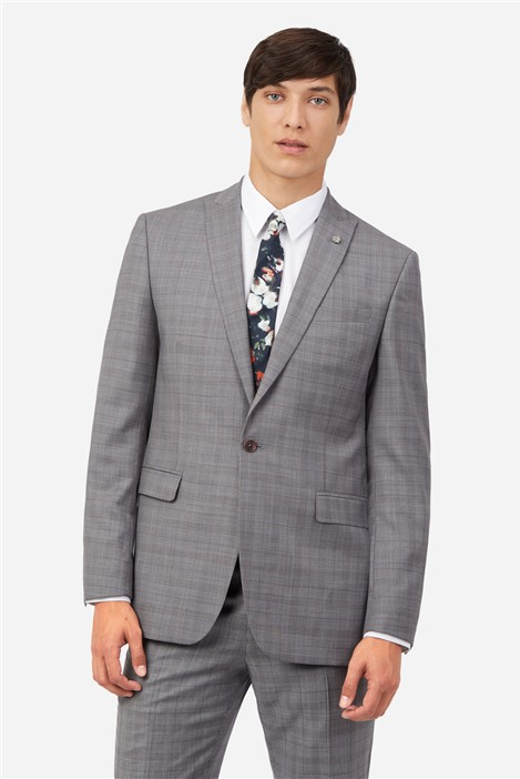 Ted Baker Grey Heather Check Suit