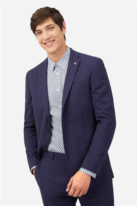 Ted Baker Navy Crosshatch Check Suit