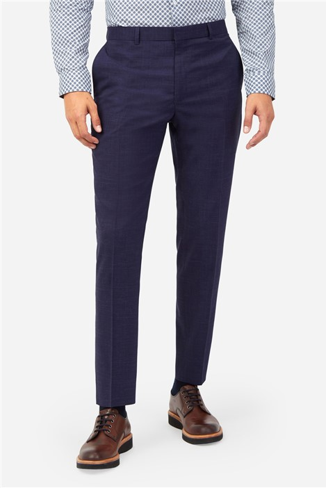 Ted Baker Navy Crosshatch Check Suit Trousers