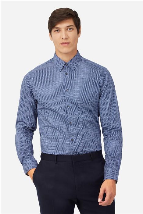 Ted Baker Blue Tonal Floral Print Shirt
