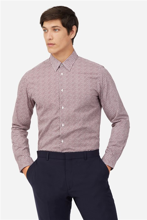 Ted Baker Wine Ditsy Shirt