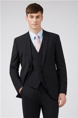 Ted Baker Black Panama Slim Suit