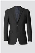 Charcoal Plain Regular Fit Suit Jacket