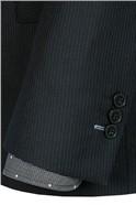 Black Stripe Tailored Fit Suit Jacket