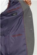 Grey Narrow Stripe Regular Fit Suit Jacket