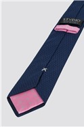 Stvdio Navy Irregular Textured Tie