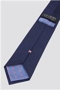 Stvdio by  Navy Irregular Textured Tie