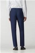 Blue Plain Regular Fit Suit Trouser