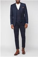 Navy Twill Slim Fit Waistcoat