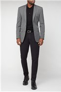 Grey Semi Plain Tailored Fit Suit