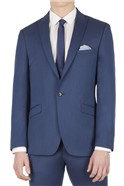 Bright Blue Pindot Slim Fit Suit
