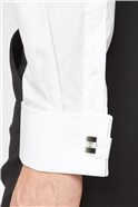 Stvdio by  Fly Front Wing Collar Shirt and Bow Tie Set