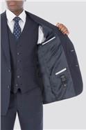 Blue Tonal Check Suit