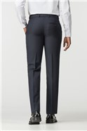 Navy Micro Wool Blend Tailored Fit Suit