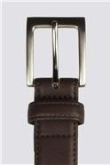 Brown Top Stitch Belt