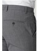 Grey Textured Wool Blend Tailored Fit Suit Trouser