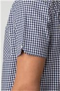 Short Sleeve Blue Gingham Shirt