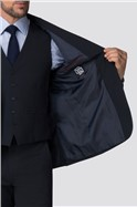 Branded Navy Regular Fit Suit Trousers