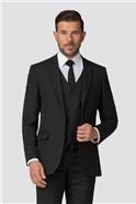Classic Black Panama Regular Fit Suit