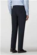 Plain Navy Panama Regular Fit Trousers