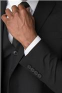 Stvdio Black Plain Slim Fit Ivy League Waistcoat