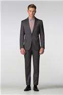Grey Birdseye Slim Fit Trousers