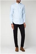 Sky Blue Long Sleeved Oxford Shirt