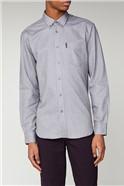 Grey Long Sleeved Oxford Shirt